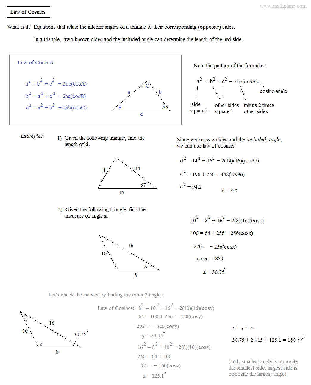 Sine Ratio Worksheet Answers