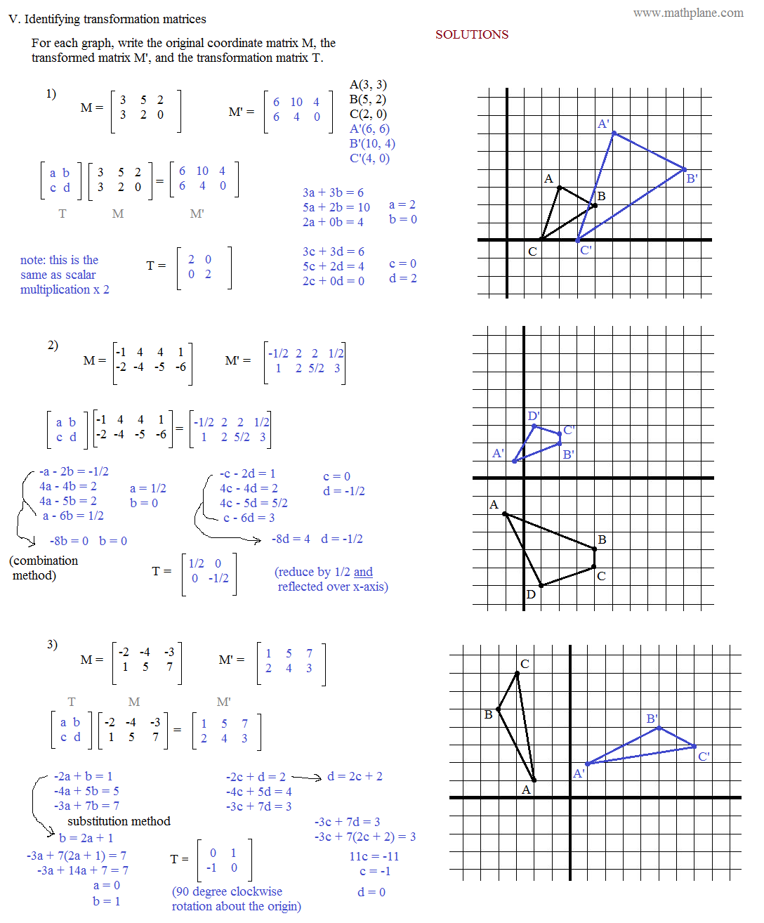 34 Transformations In The Coordinate Plane Worksheet