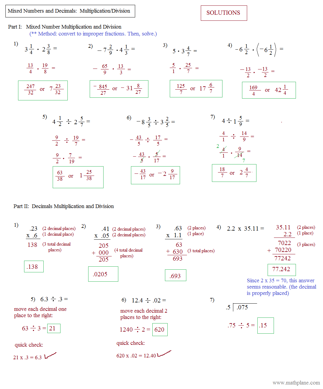 Rationalizing Denominators Worksheet Answers