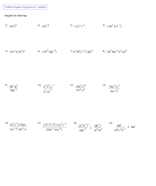 small resolution of Math Plane - Simplifying Negative Exponents and Variables