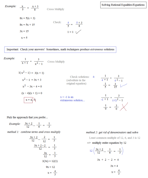 small resolution of Rational Expressions And Equations Worksheet - Nidecmege