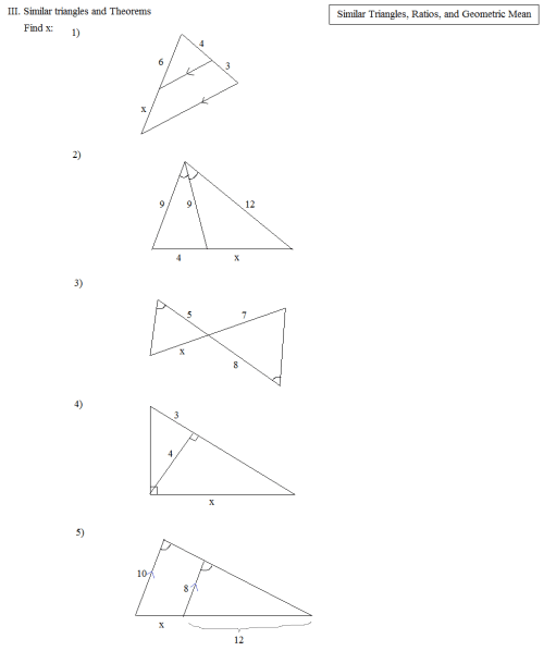 small resolution of Math Plane - Similar Triangles \u0026 Ratios