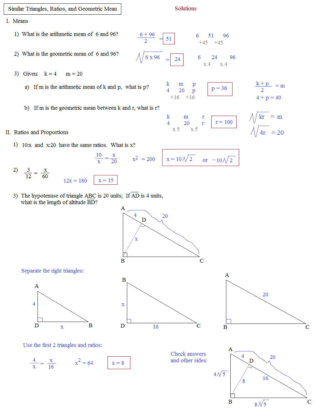 Worksheet On Geometric Mean