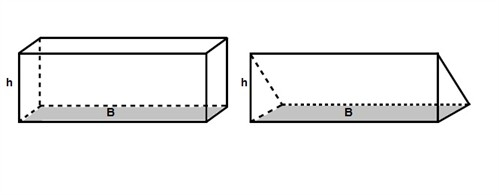 The surface area and the volume of pyramids, prisms