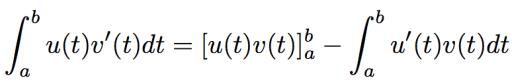 formule d'intégration par partie
