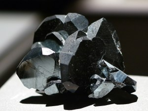 Figure 1: Hematite Crystal. I used to find smaller versions of these crystals when I was a boy. (Wikipedia)