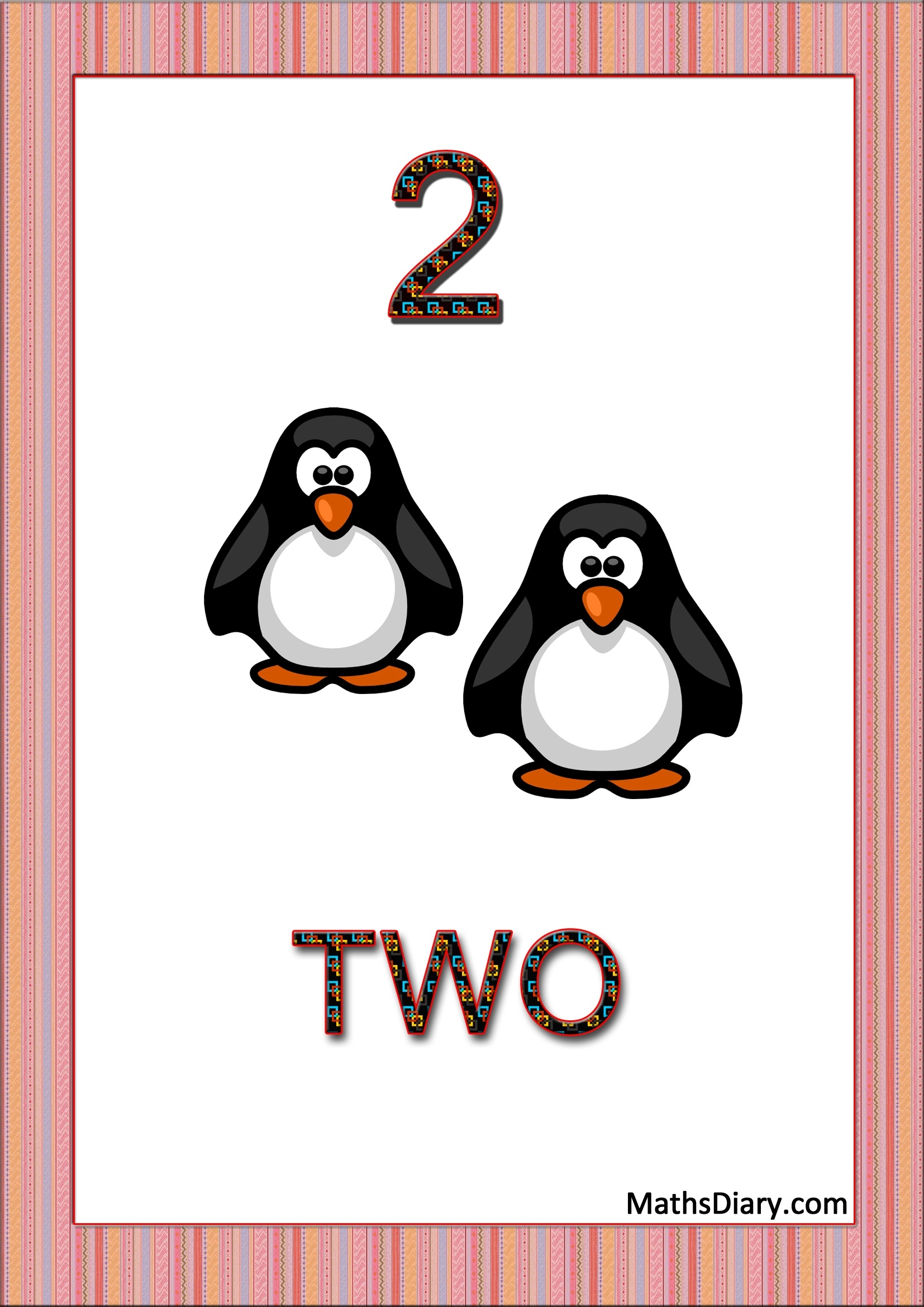 Learning Counting And Recognition Of Number 2 Worksheets