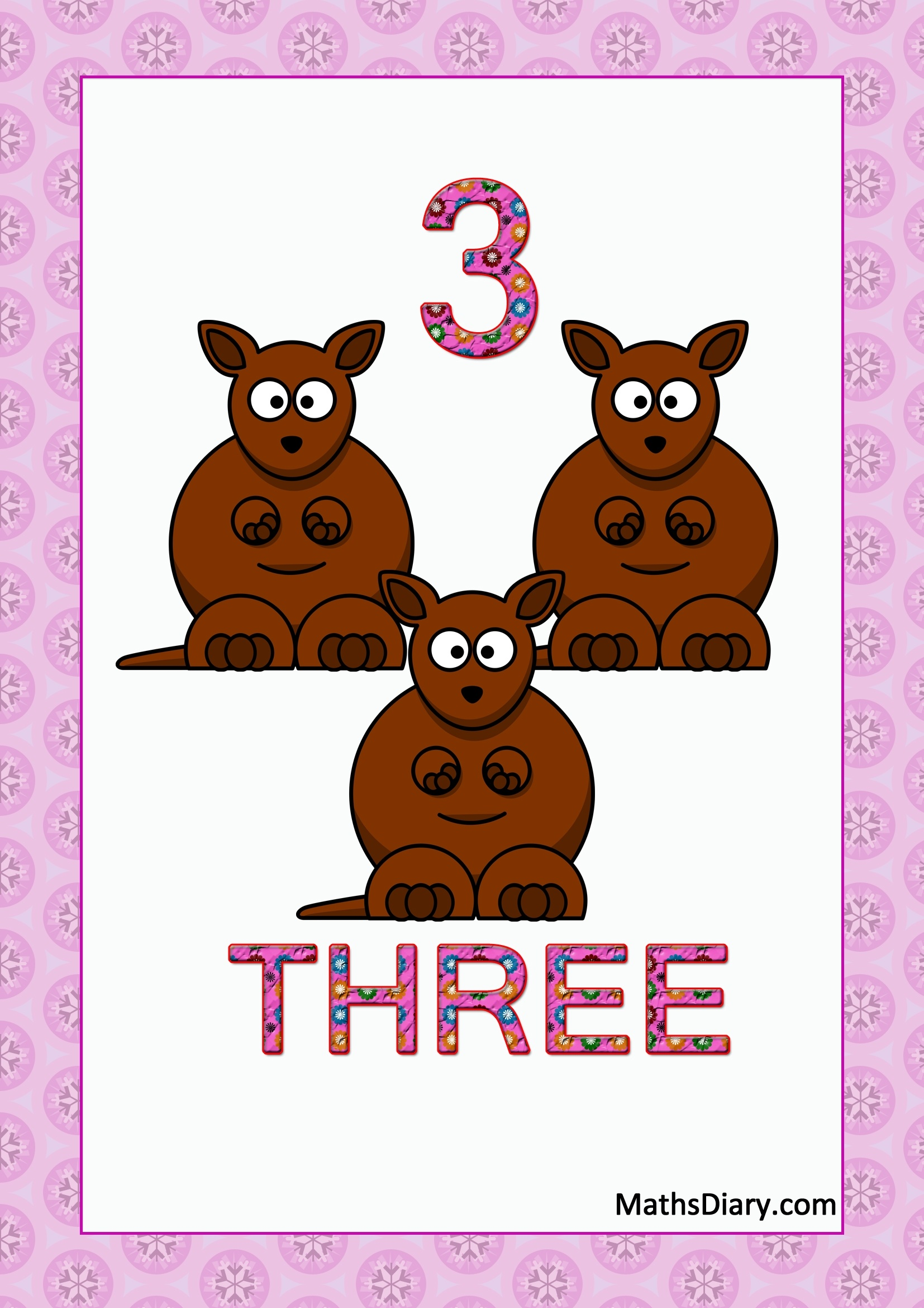 Learning Counting And Recognition Of Number 3 Worksheets Level 1 Help Sheets Part 2