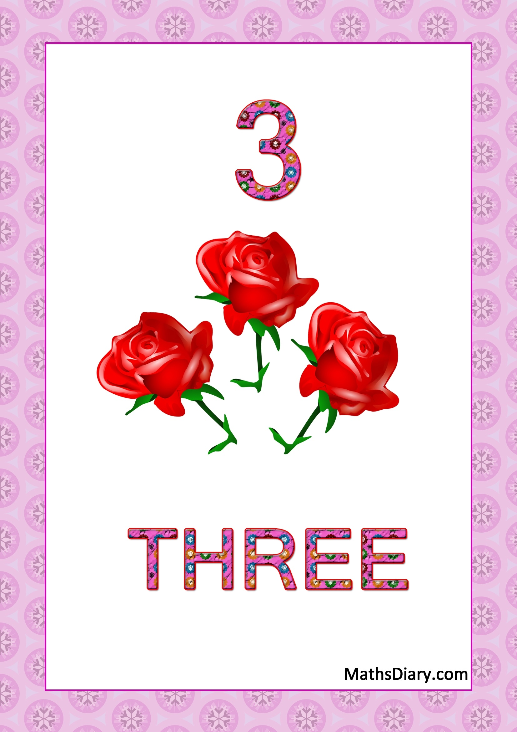 Learning Counting And Recognition Of Number 3 Worksheets Level 1 Help Sheets Part 3