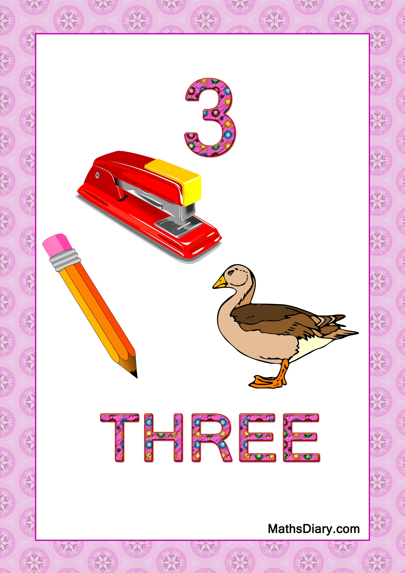 Learning Counting And Recognition Of Number 3 Level 3 Worksheets