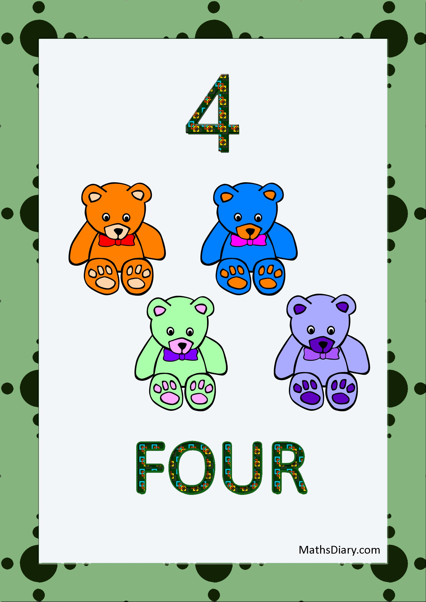 Recognition Of Numbers Lkg Math Worksheets
