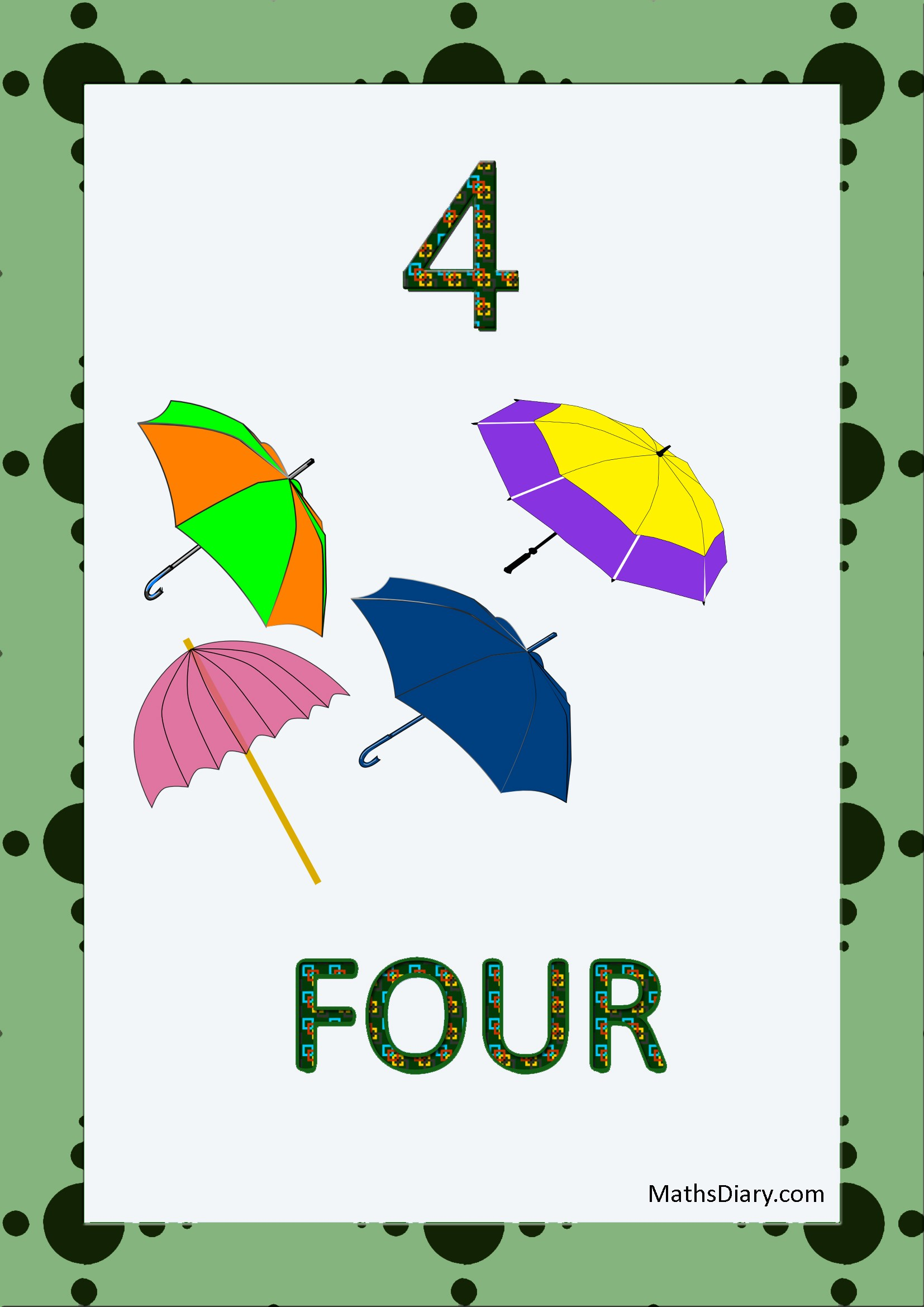 Learning Counting And Recognition Of Number 4 Level 2 Worksheets