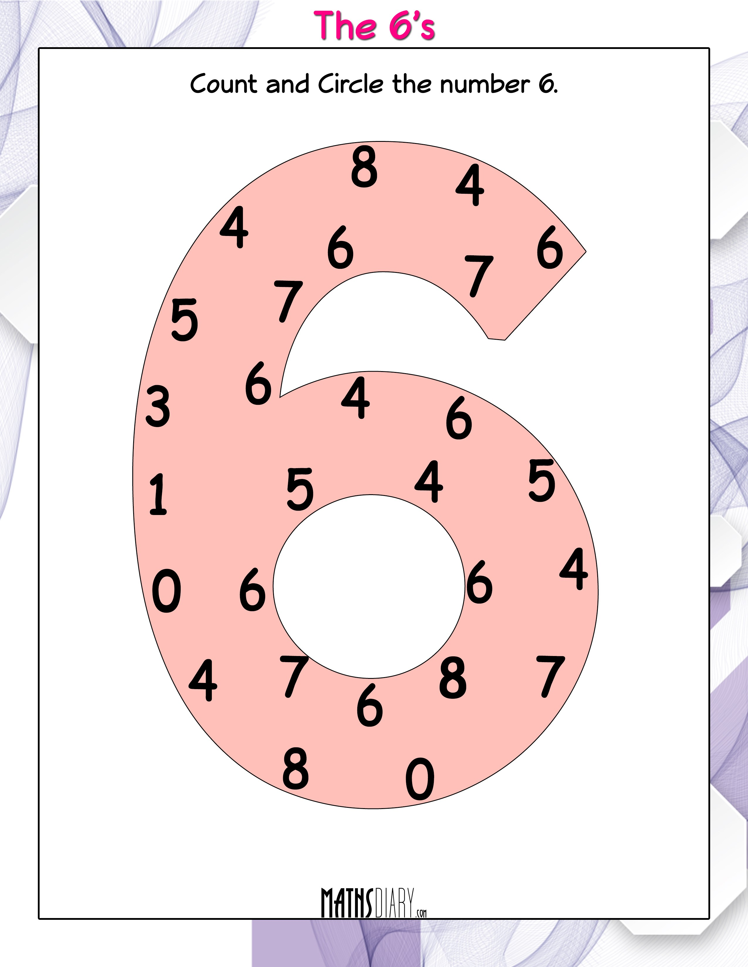 Count And Circle The Numbers