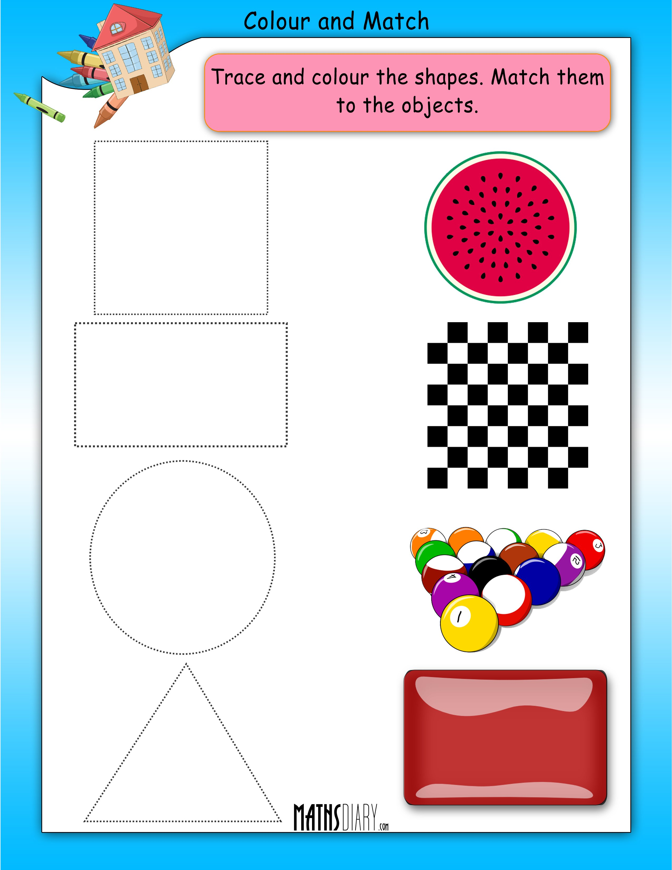Colouring Worksheets Nursery Math Worksheets