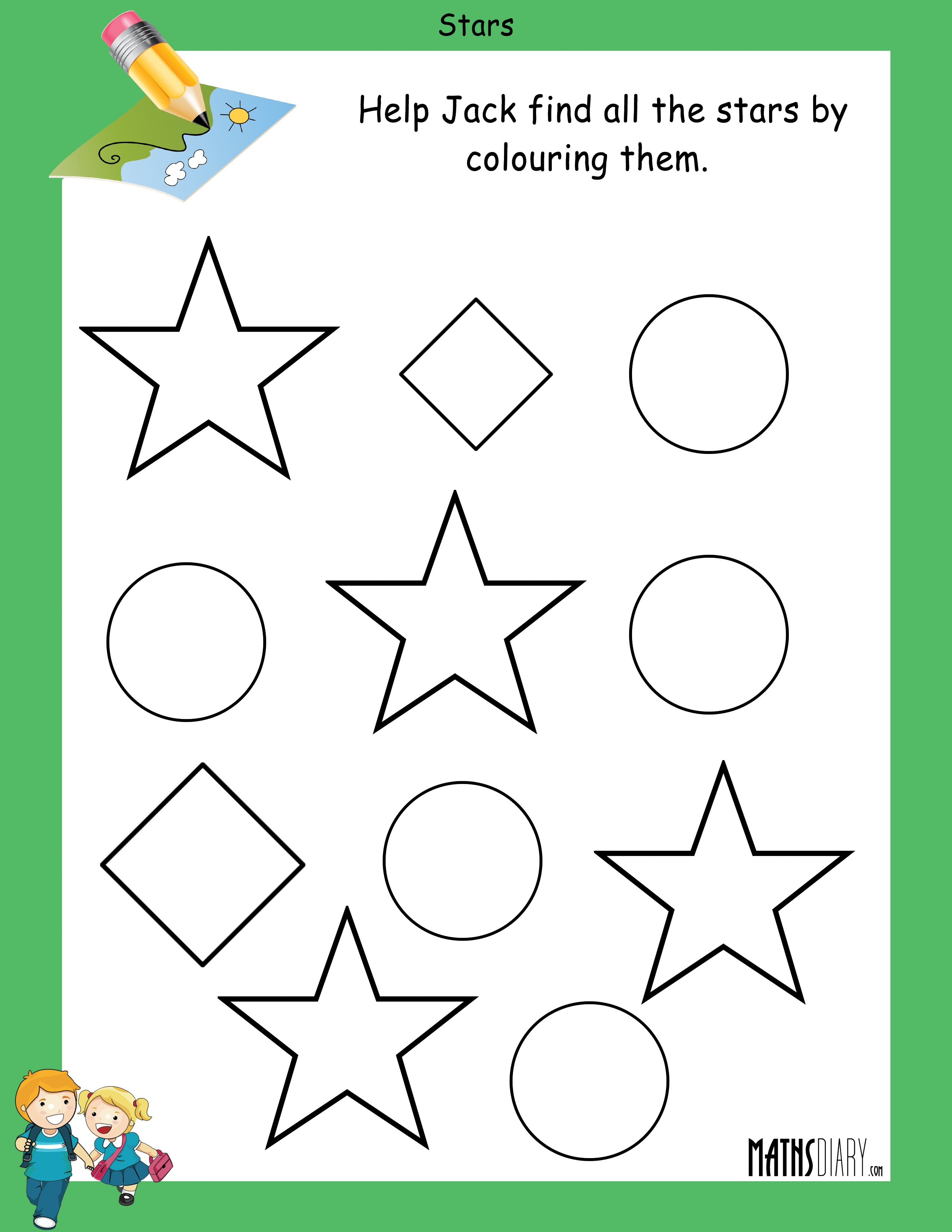 Star Shape Worksheet