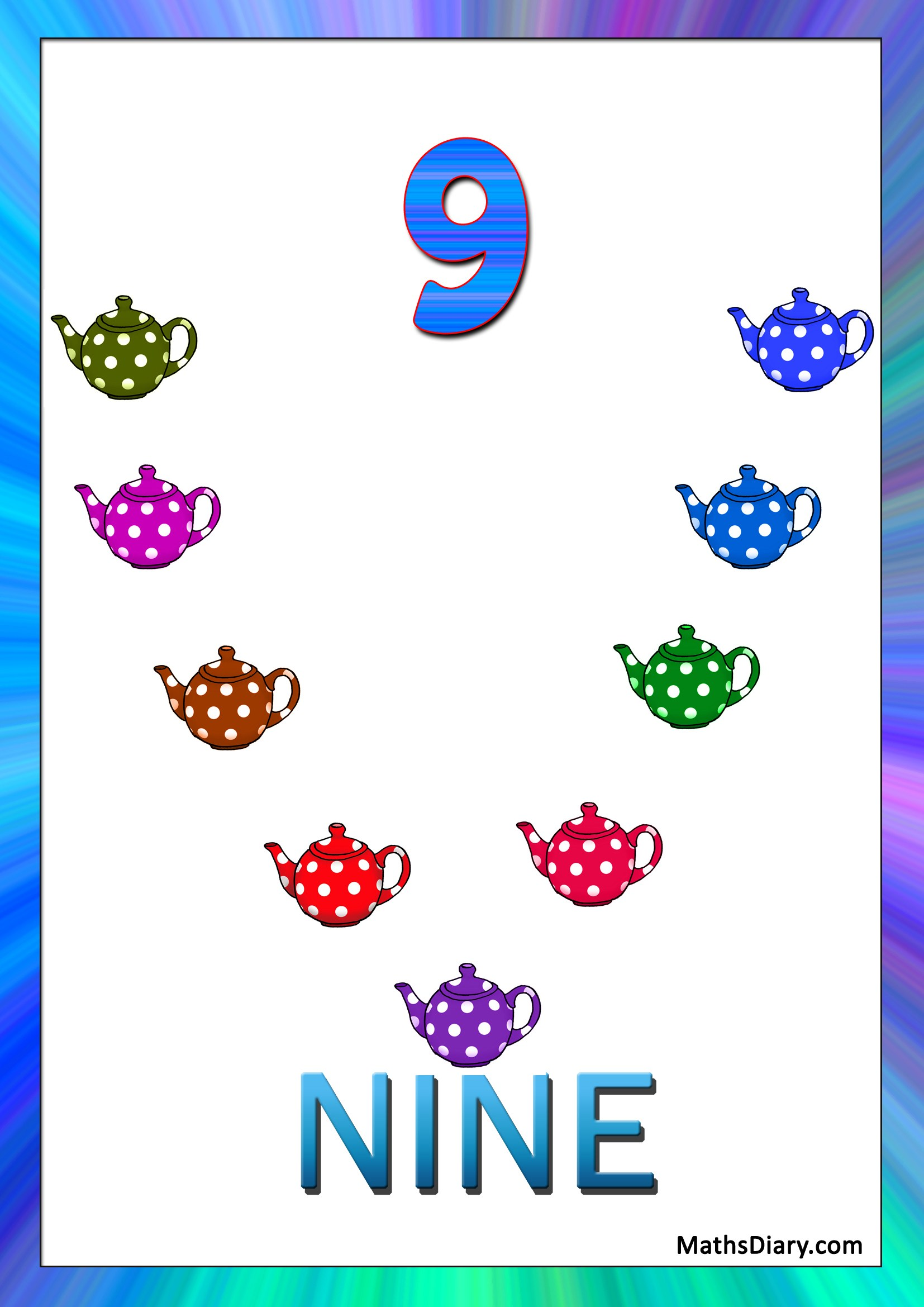 Learning Counting And Recognition Of Number 9 Level 2