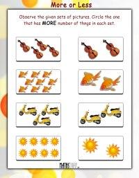 Practical Maths  UKG Math Worksheets - Page 3