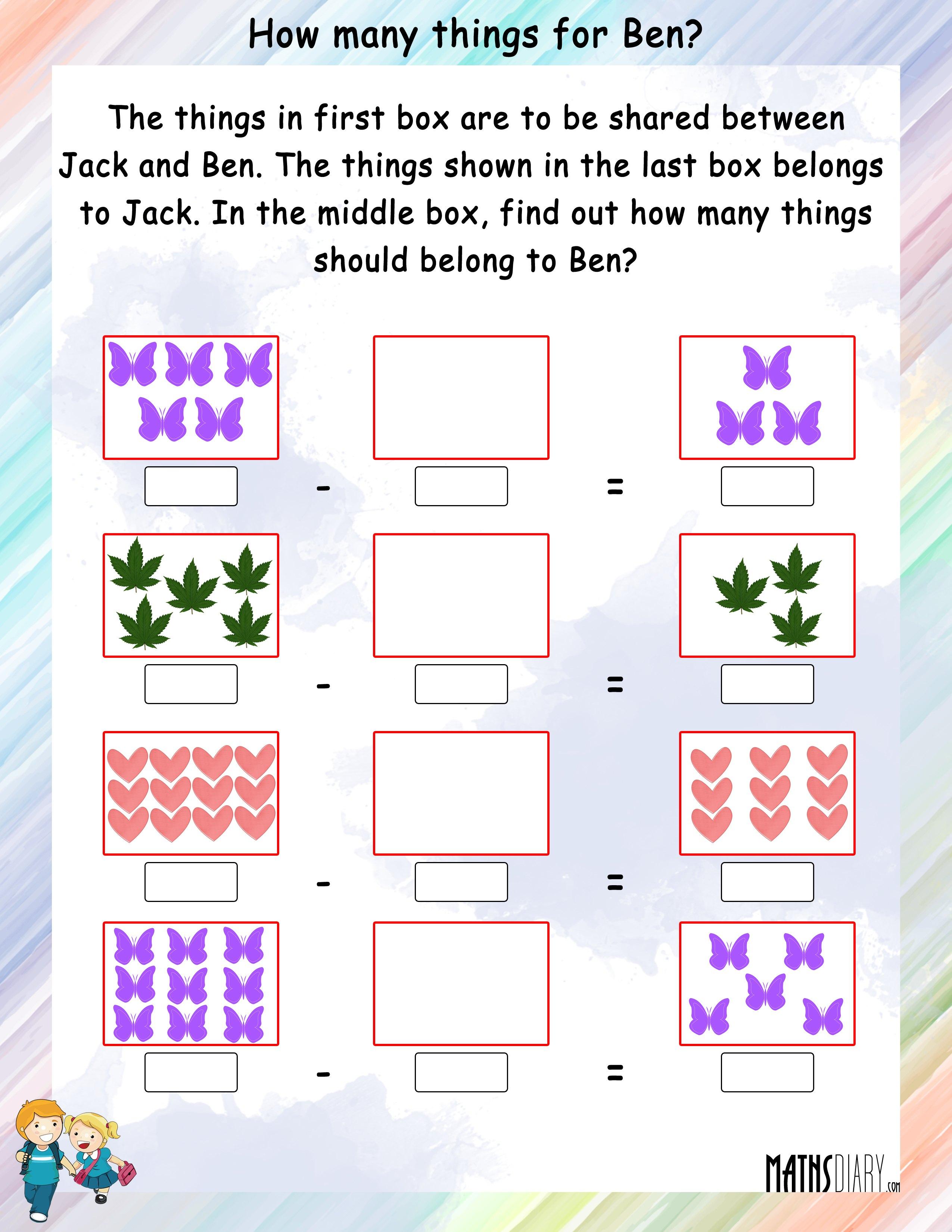 Subtraction Grade 2 Math Worksheets