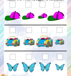 Kindergarten Math Ascending Order Worksheets - Preschool Worksheet Gallery [ 3300 x 2550 Pixel ]