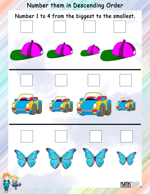 small resolution of Kindergarten Math Ascending Order Worksheets - Preschool Worksheet Gallery