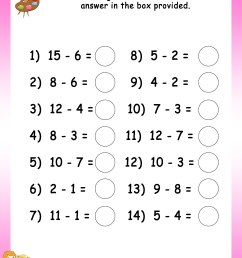 Grade 2 Math Worksheets Mental Subtraction   Printable Worksheets and  Activities for Teachers [ 3300 x 2550 Pixel ]