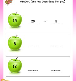 Write Addition or Subtraction fact for each number - Math Worksheets -  MathsDiary.com [ 3300 x 2550 Pixel ]