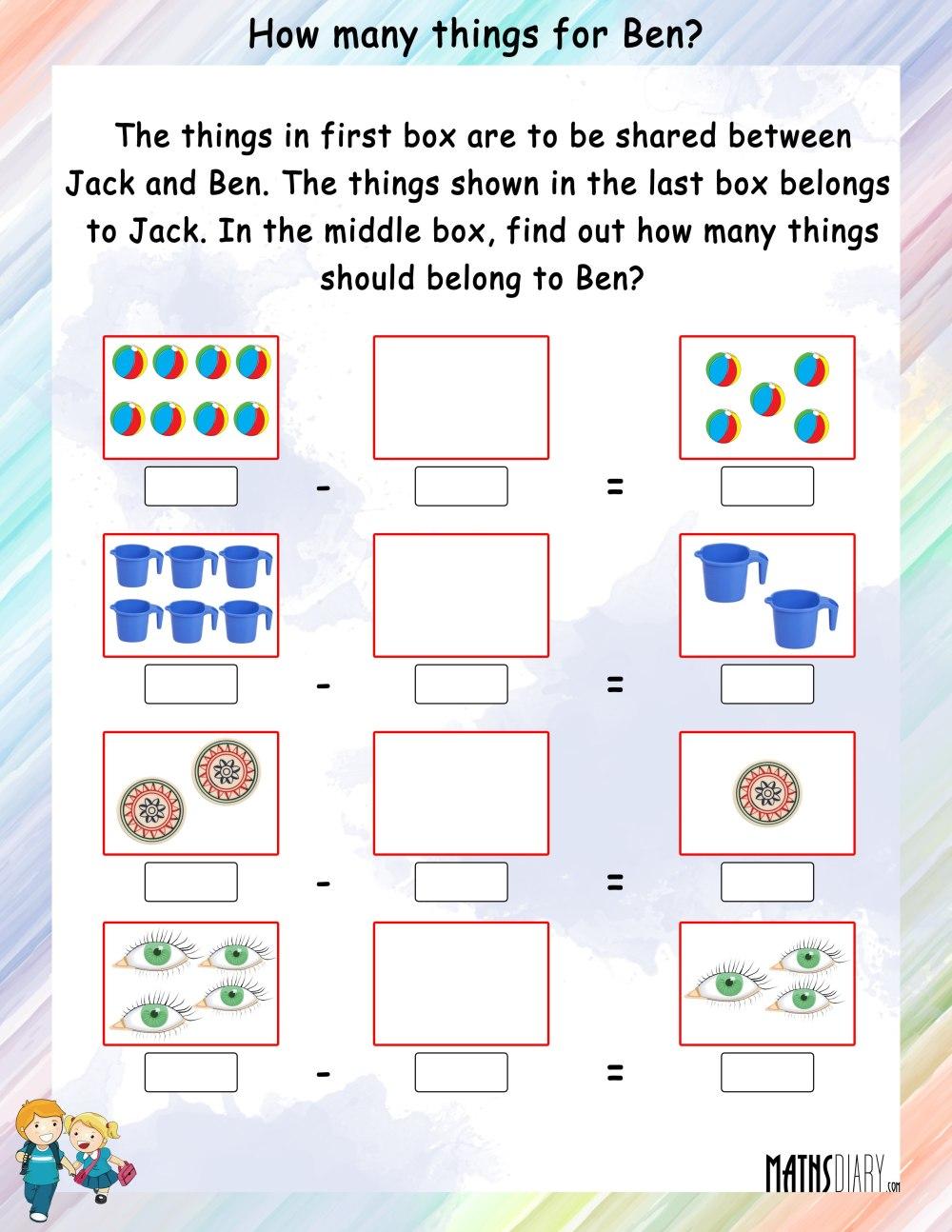 medium resolution of Mental Maths – Grade 1 Math Worksheets - Page 12