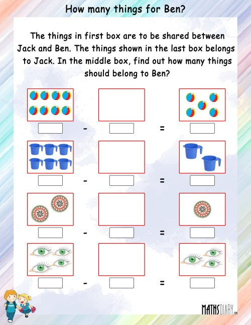small resolution of Mental Maths – Grade 1 Math Worksheets - Page 12