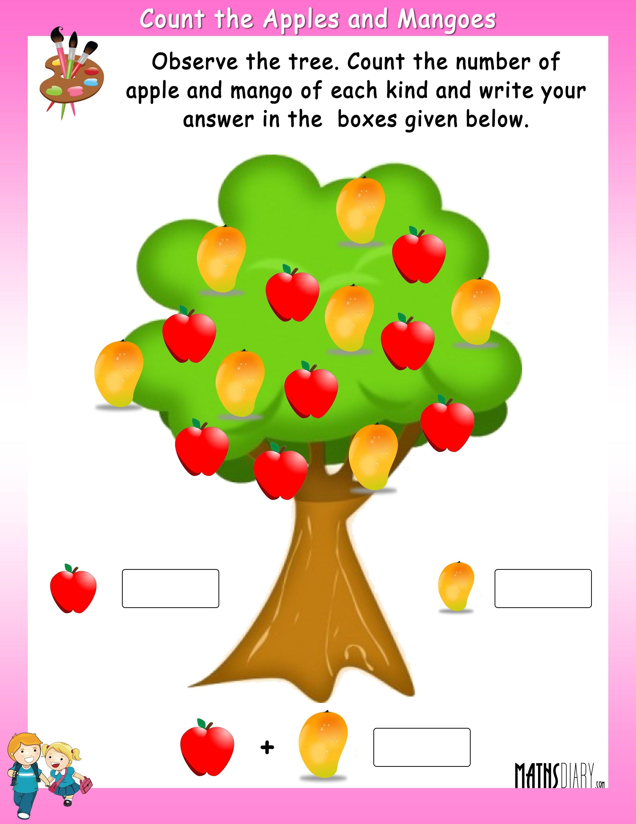 Mental Maths Nursery Math Worksheets