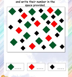 Counting Shapes in Different Colors - Math Worksheets - MathsDiary.com [ 3300 x 2550 Pixel ]