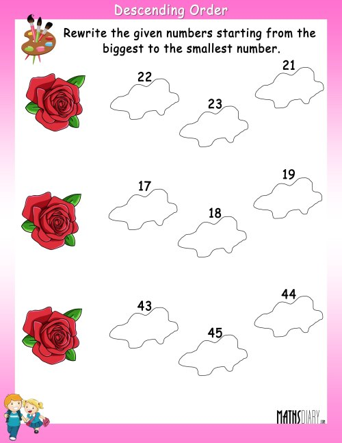 small resolution of Ascending And Descending Order Worksheet For Kids   Printable Worksheets  and Activities for Teachers