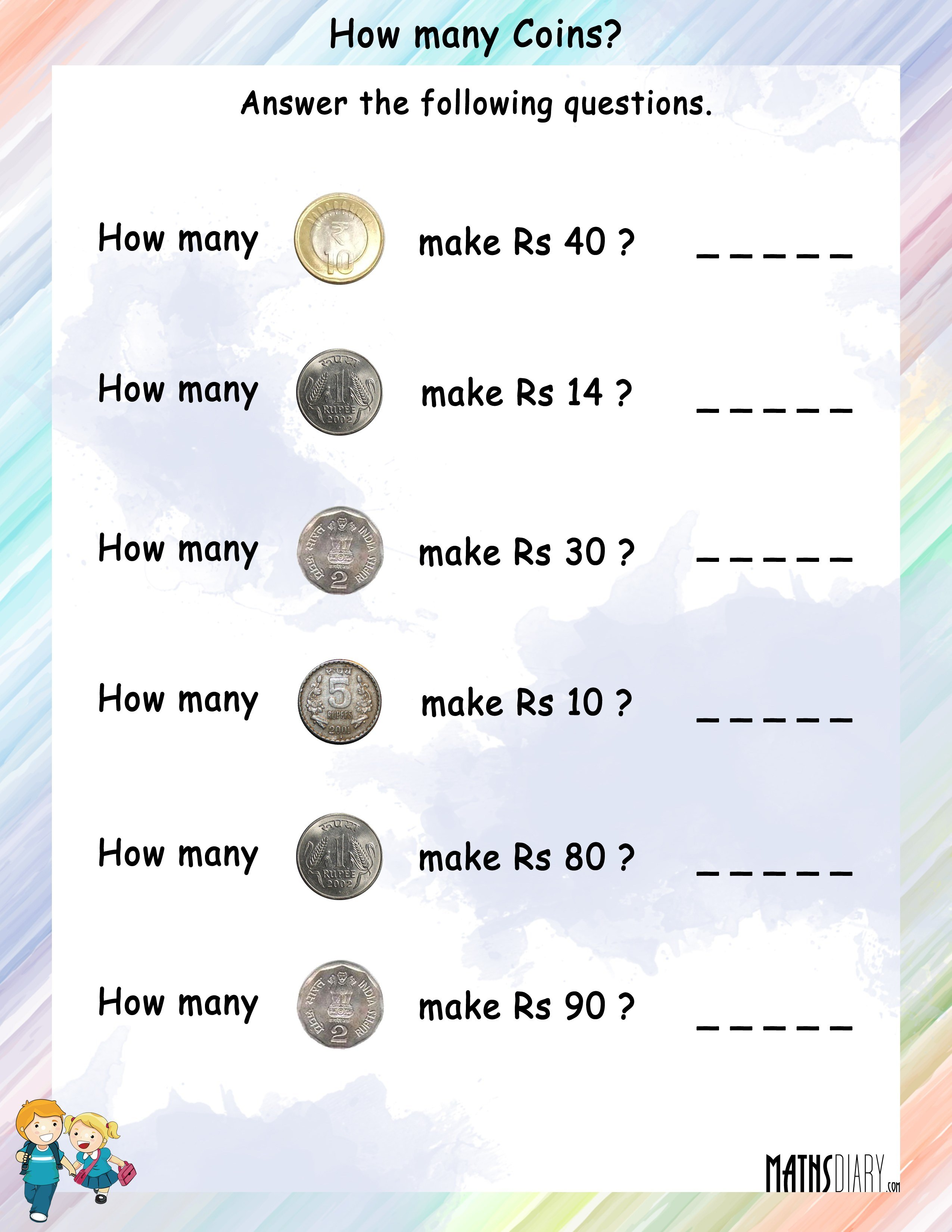 How Many Coins Will Be Needed To Make The Given Rupees