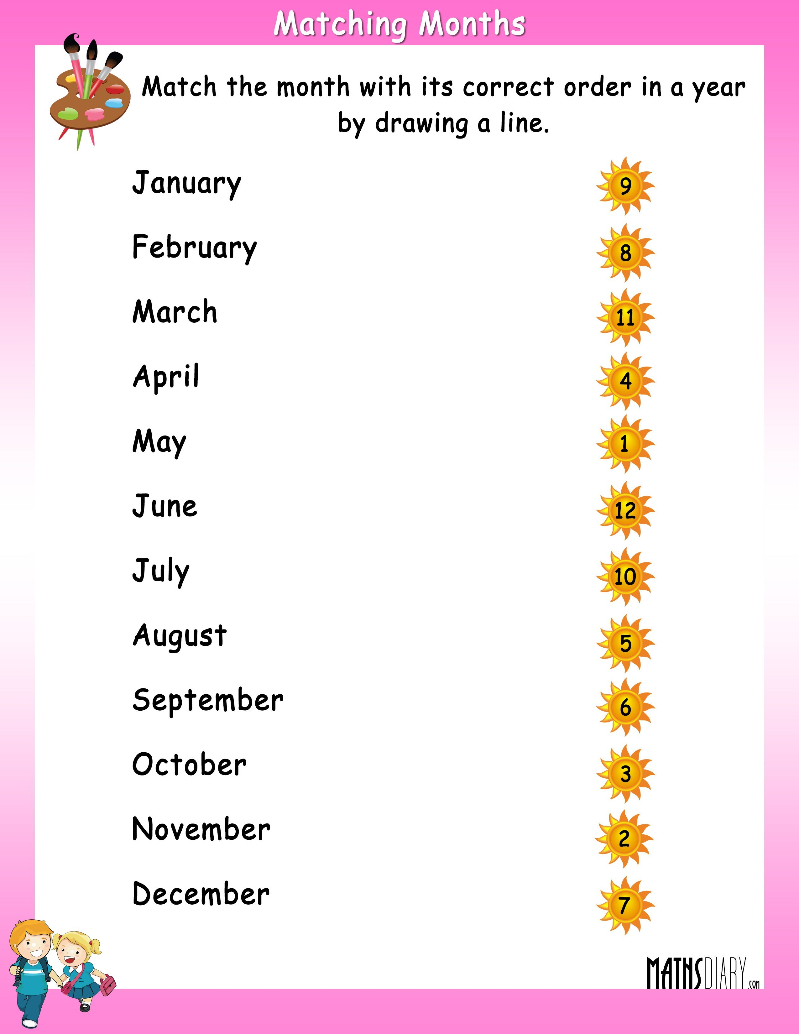Match The Month With Its Correct Order