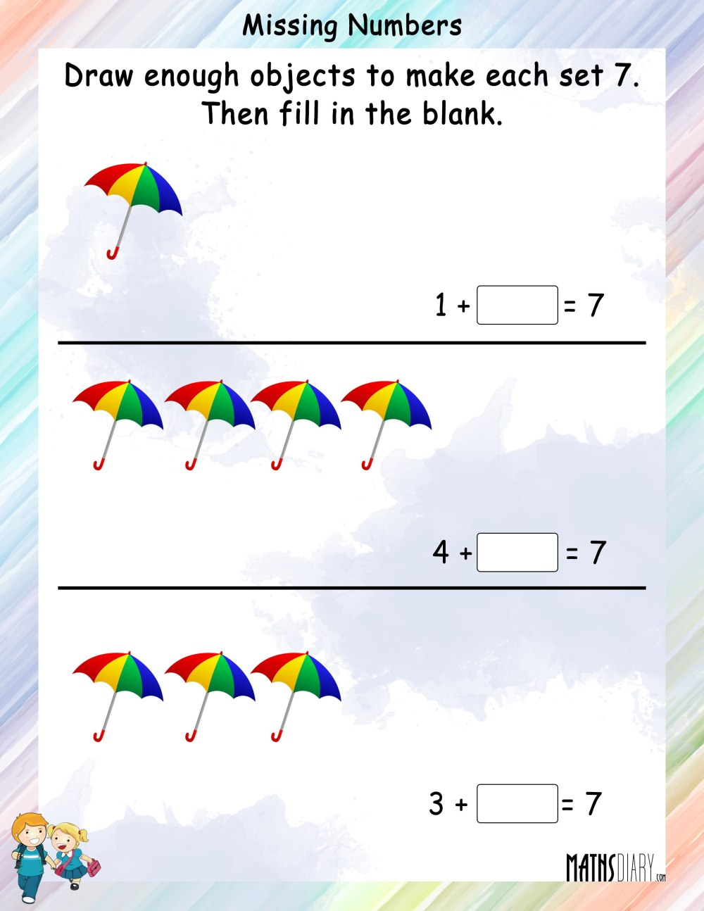 medium resolution of Colouring Worksheets – Grade 1 Math Worksheets - Page 2