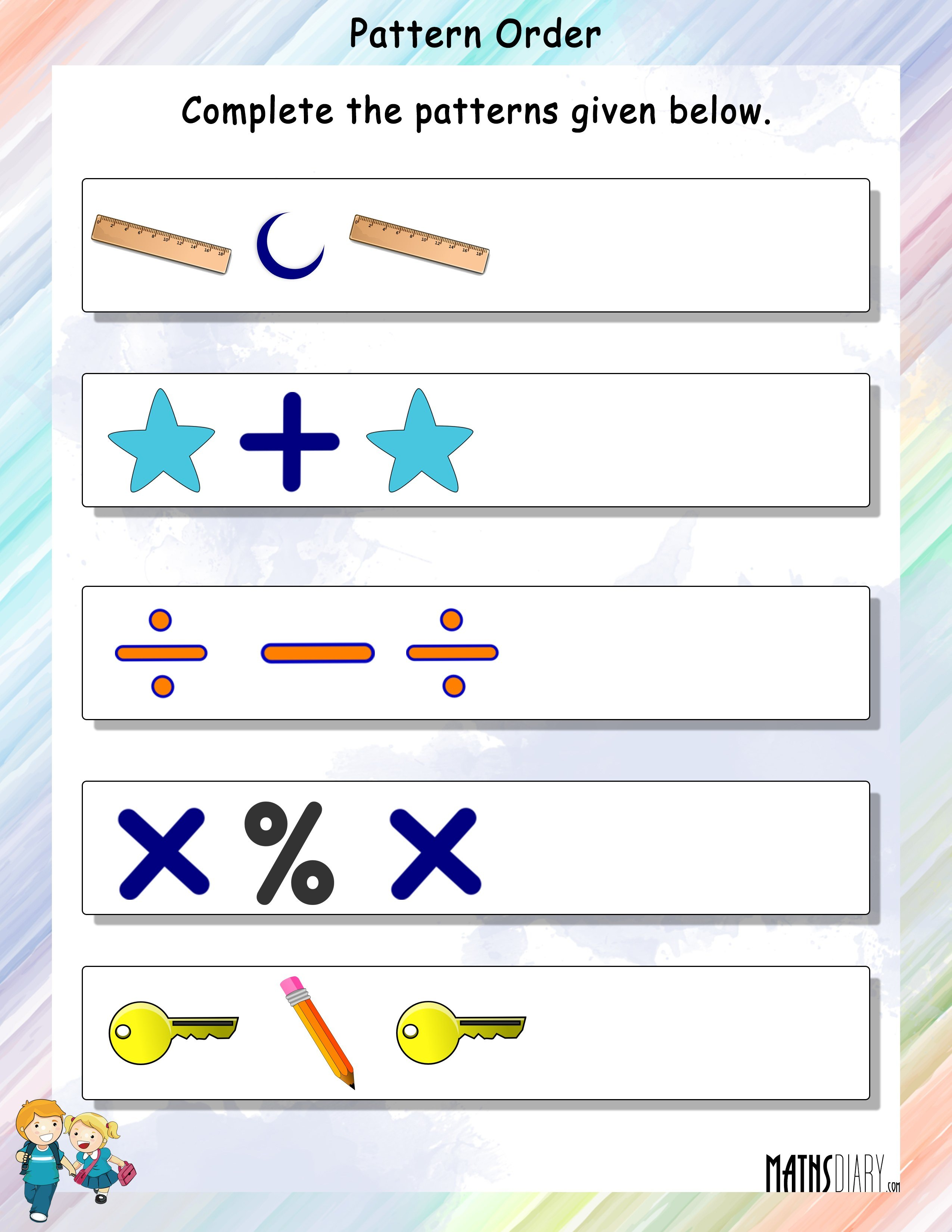 Patterns Grade 1 Math Worksheets