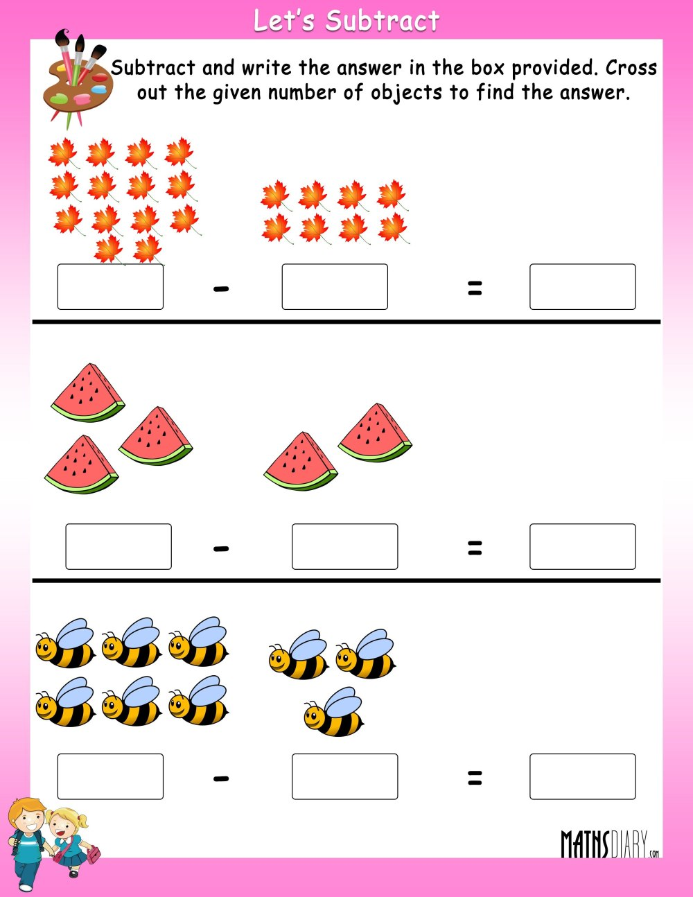 medium resolution of Math Subtraction Worksheets Grade 1   Printable Worksheets and Activities  for Teachers