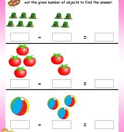 Subtract by crossing the objects worksheets - Math Worksheets -  MathsDiary.com [ 3300 x 2550 Pixel ]