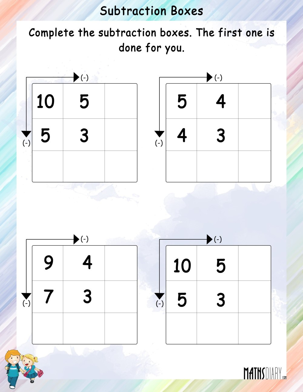 medium resolution of 1 Grade Worksheets Subtracion   Printable Worksheets and Activities for  Teachers