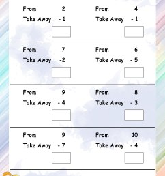 Take away from - Math Worksheets - MathsDiary.com [ 3300 x 2550 Pixel ]