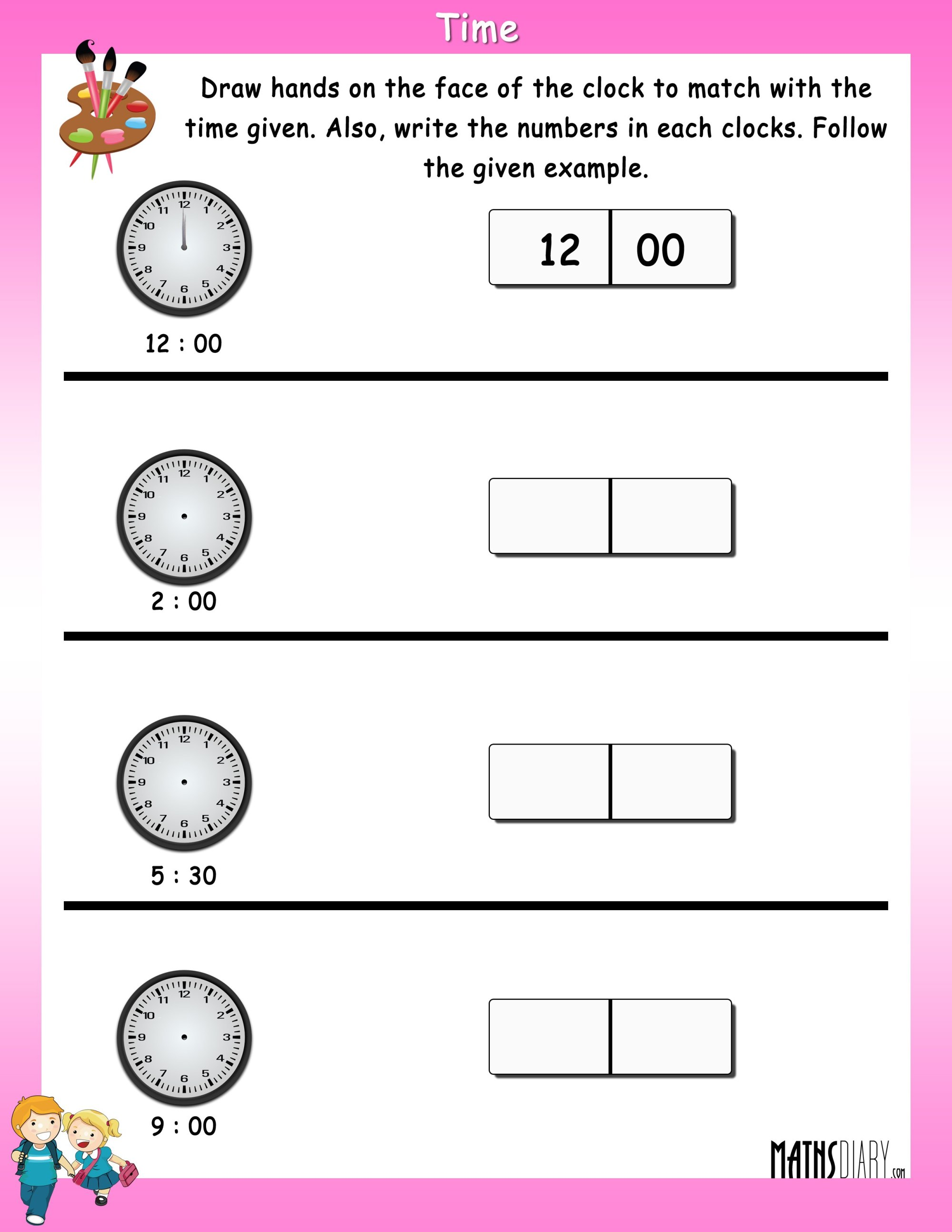 hight resolution of Clock Worksheets Grade 1   Printable Worksheets and Activities for  Teachers