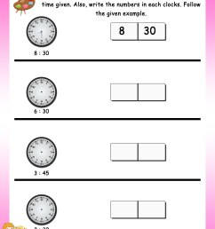 Read the time - Math Worksheets - MathsDiary.com [ 3300 x 2550 Pixel ]