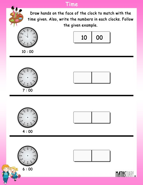 small resolution of Read the time - Math Worksheets - MathsDiary.com