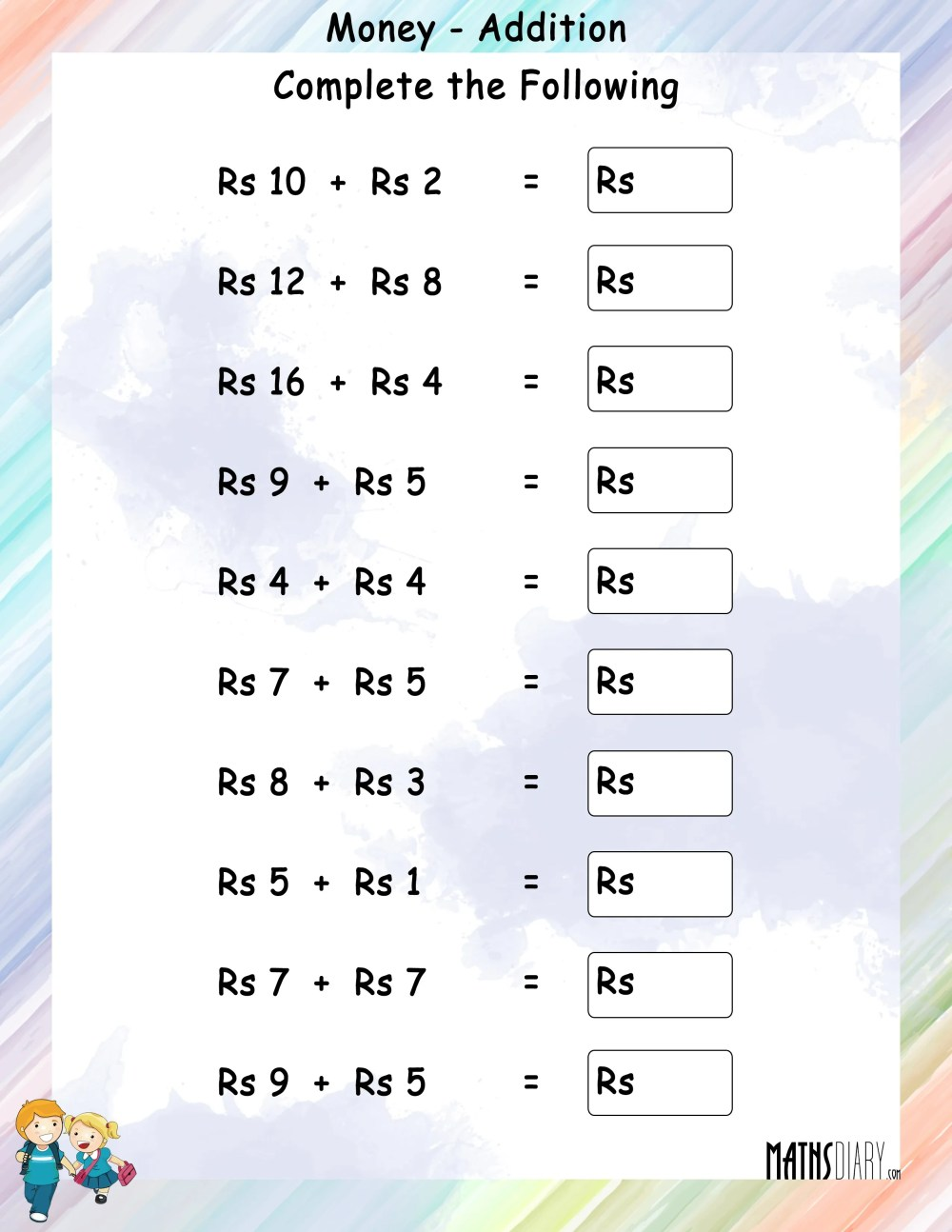 medium resolution of Addition – Grade 1 Math Worksheets - Page 2