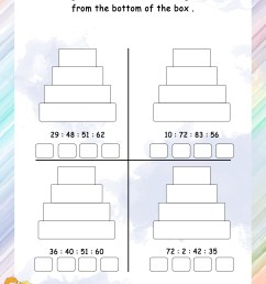 Arrange numbers in Ascending Order in boxes - Math Worksheets -  MathsDiary.com [ 3300 x 2550 Pixel ]
