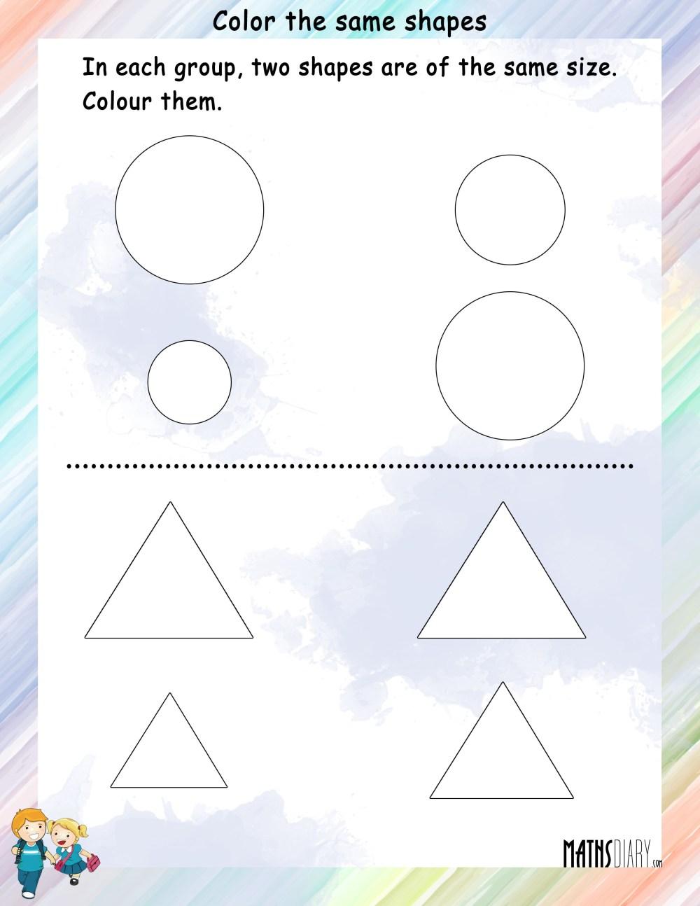medium resolution of Shapes – Grade 1 Math Worksheets