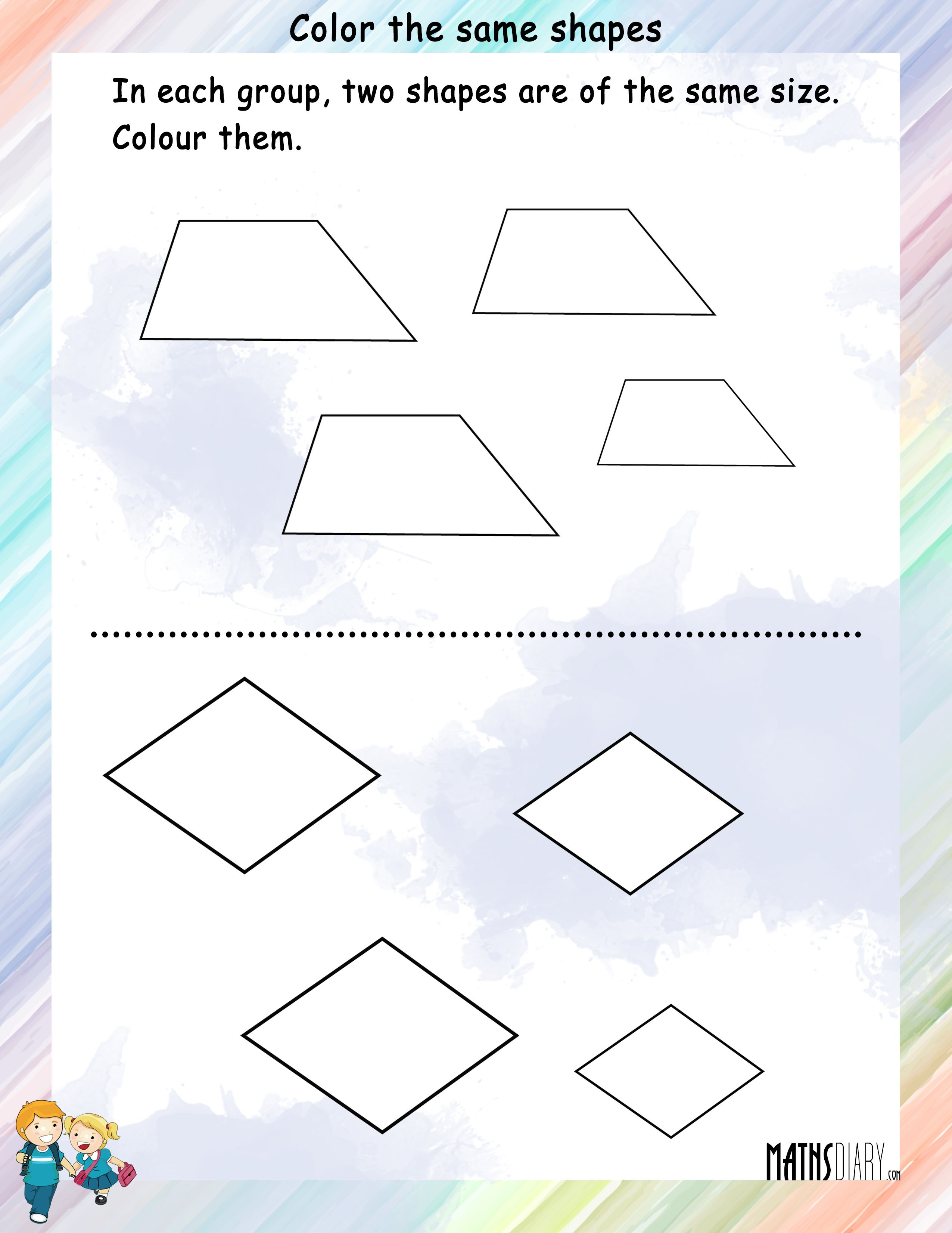 Shapes Grade 1 Math Worksheets