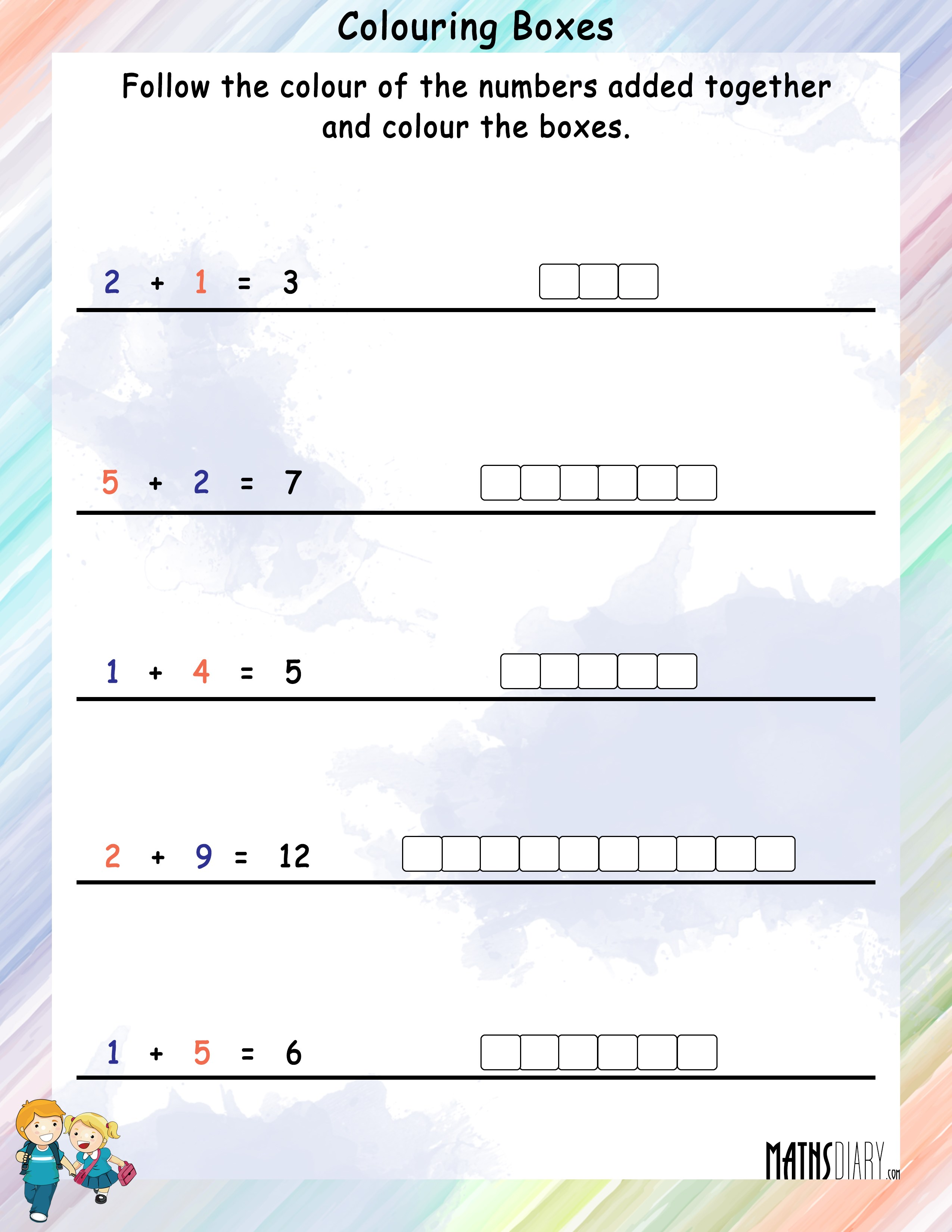 Colouring Worksheets Grade 1 Math Worksheets