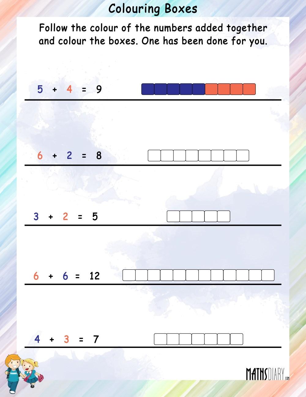medium resolution of Colouring Worksheets – Grade 1 Math Worksheets