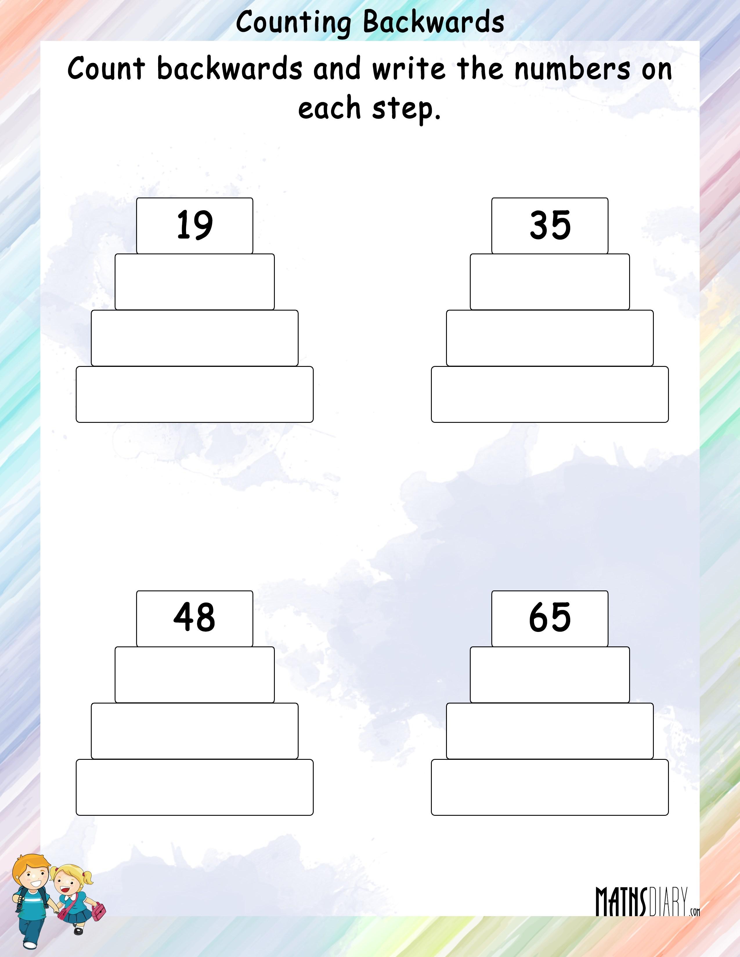 Counting Grade 1 Math Worksheets