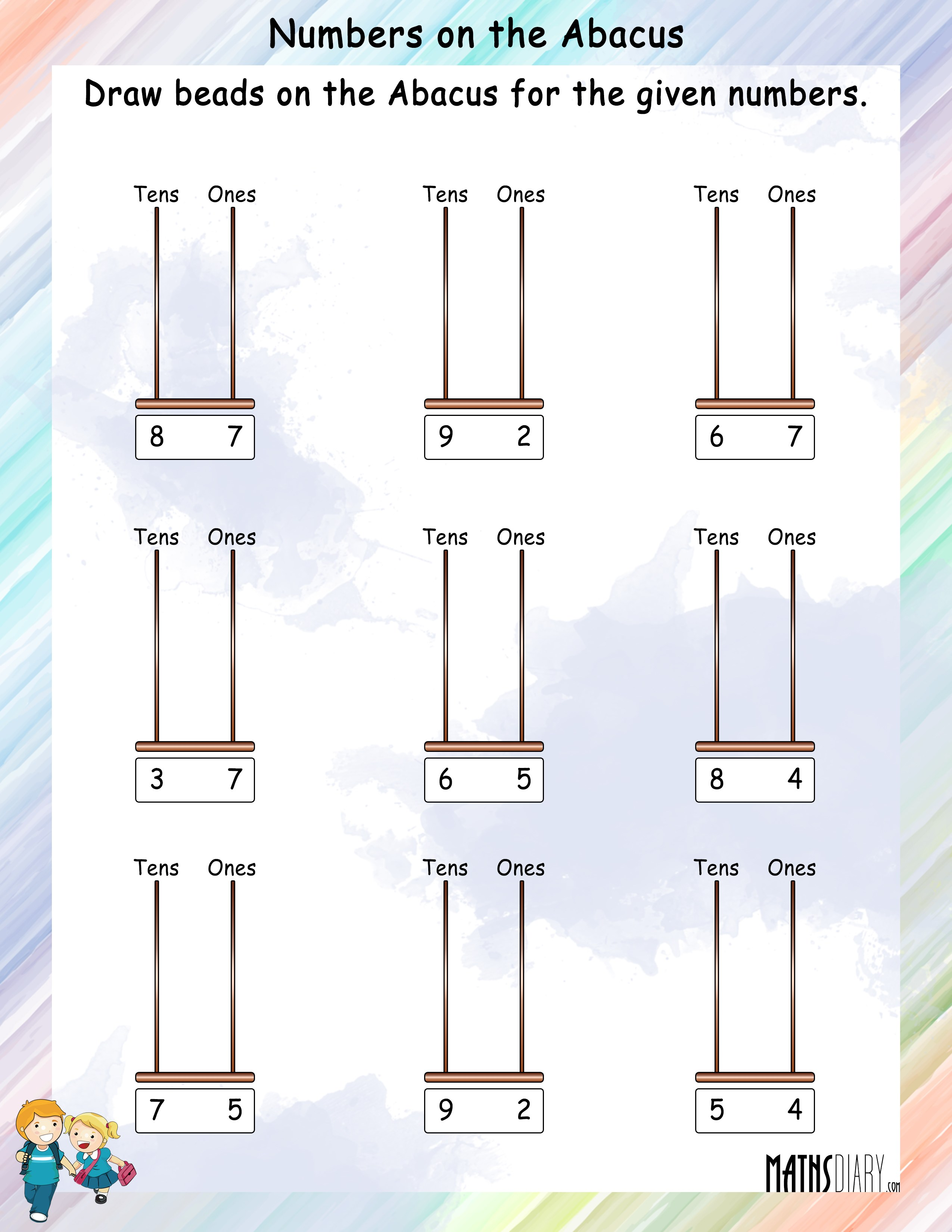 Draw Beads On The Abacus For The Given Number